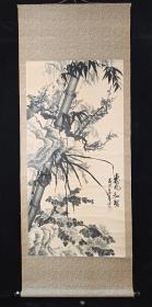 【日本回流】原装旧裱 华 国画作品《惠风和畅》一幅(纸本立轴,画心约7.8平尺,款识钤印:李泽露章)HXTX196881