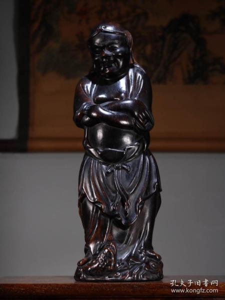 收藏烏木雕刻劉海戲金蟾高38厘米