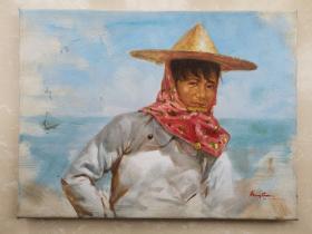 原创人物油画作品系列之— 福建惠安女