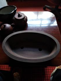 老紫砂椭型花盆--------32*20*8cm--------中国宜兴