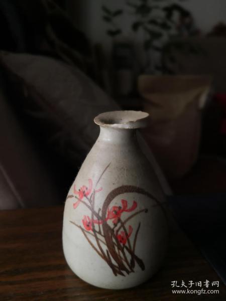 仿古燒制彩陶空谷幽蘭花器