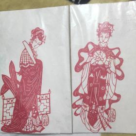 金陵十二釵剪紙(全套十幅剪紙圖案