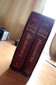 正版现货,The American Heritage College Dictionary, Fourth Edition + The American Heritage College Thesaurus, First Edition,美国传统大学词典豪华套装版。包邮!