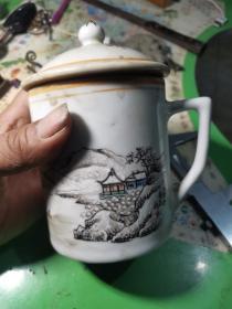 刘以桂的雪景图茶杯