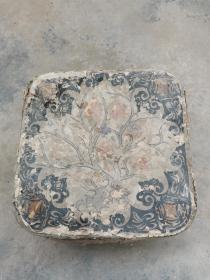 民国时期纸盒子,内粘有木版年画,31*14