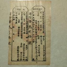 中华民国季票,存根一体票