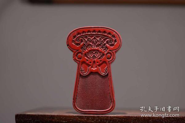 剔紅漆器收納盒家居擺件收藏 長10.5厘米 寬6.5厘米