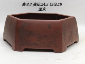 下鄉收來的紫砂琴棋書畫筆洗,器型優美,紋飾細膩,包漿厚重,品相尺寸如圖
