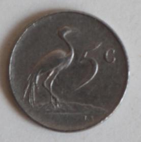 外國硬幣 南非硬幣1977年5分