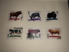 信销邮票 T63 畜牧业 6枚1套