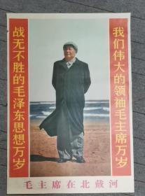 宣傳畫 毛主席在北戴河 印刷品