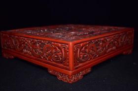 剔紅漆器大方盒,重4419克,888