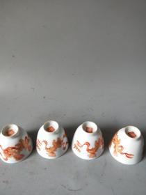清代的老茶碗完整套4個