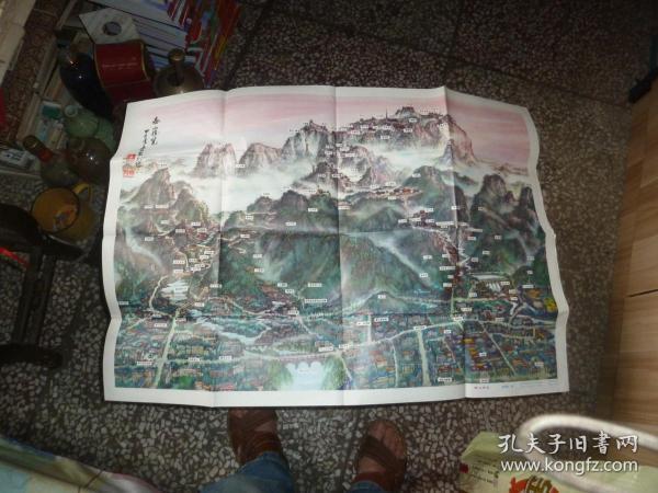 泰山登山路線圖