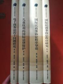 李双元法学文丛:国际民商事诉讼程序研究,国际民商事诉讼程序导论,儿童权利的国际法律保护,电子商务法若干问题研究(四本合售)
