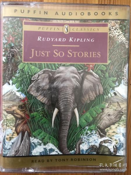 諾貝爾文學獎獲得者,英國作家rudyard kipling吉普林的短篇小說集磁帶just so stories,2盤原版磁帶,應該沒有播放過,盒子有裂痕