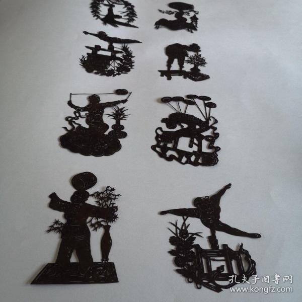 剪紙墨樣雜技一組,
