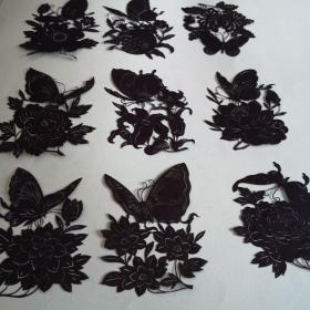 剪紙墨樣蝴蝶一組