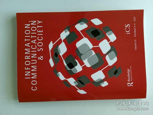 Information, Communication & Society  2017年3-4月 信息、通信和社會