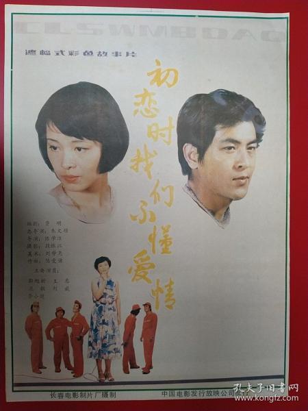 (電影海報)初戀我們不懂愛情(二開)于年上映,長春電影制片廠攝制,品相以圖為準。