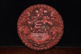 收藏漆器首飾盒直徑19.5厘米