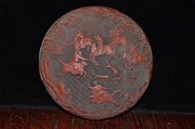 收藏漆器首飾盒擺件直徑17厘米
