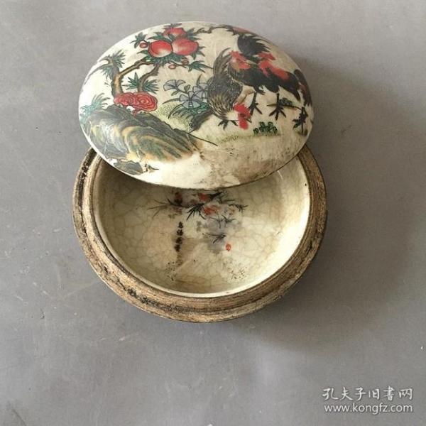 壽桃紋印泥盒
