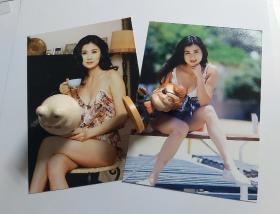 吳雪雯稀有絕版性感的五寸照片2張