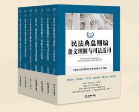 2020年正式版  民法典总则编条文理解与司法适用 新修订 法律出版社