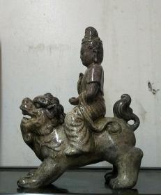 磁州窑文殊菩萨塑像