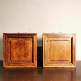 清代九層核桃木書箱一對核桃木藏經柜