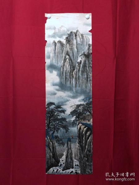 書畫9076無款山水畫,約3.5平尺