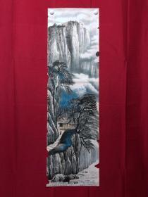 書畫9078無款山水畫,約3.5平尺