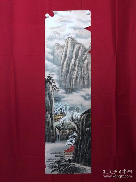 書畫9081無款山水畫,約3.5平尺