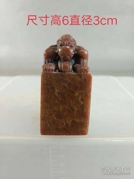 田黄石印章,品相如图,包浆老辣,磨损自然,保存完整。