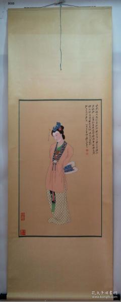 【艺林堂】 著名书画家 张大千 █ 仕女(纯手绘)█立轴 B088