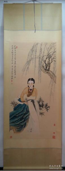 【艺林堂】 著名书画家 张大千 █ 仕女(纯手绘)█立轴 B101