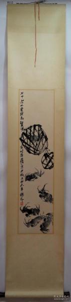【艺林堂】 著名书画家 齐白石 █ 螃蟹(纯手绘)█立轴   B112