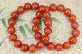 旧藏两条南红玛瑙手链