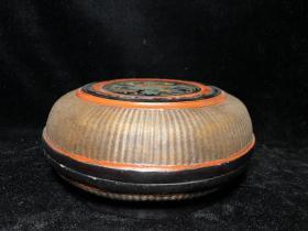 竹丝漆器盒