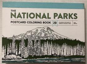 平装 The National Parks Postcard Coloring Book: 20 Colorable Postcards of Americas National Parks 国家公园明信片彩绘本:20张美国国家公园彩色明信片