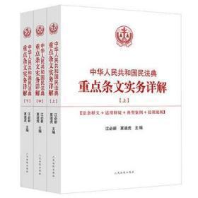 民法典2020年版 中华人民共和国民法典重点条文实务详解 上中下 人民法院出版社