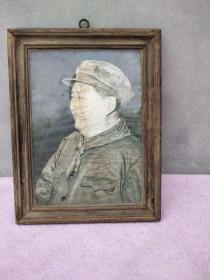 五十年代毛主席像一張,帶原鏡框,品還可以