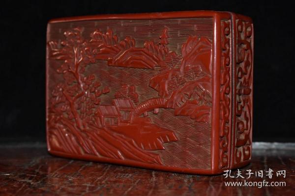 收藏漆器粉盒長13厘米