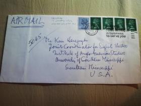 1983年诺贝尔文学奖得主,英国小说家威廉·戈尔丁(William Golding) 亲笔签名信扎一封 带亲笔信封