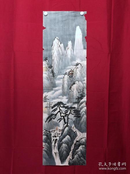 書畫9077無款山水畫,約3.5平尺