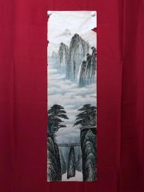 書畫9079無款山水畫,約3.5平尺