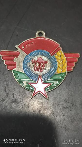 解放東北紀念像章