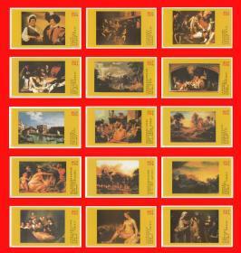 盧浮宮名畫火花(中)東方卷標80×1(單枚大小約9.2cm×5.3cm)