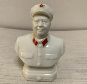 收到【毛主席】瓷像一个、瓷器,德化瓷